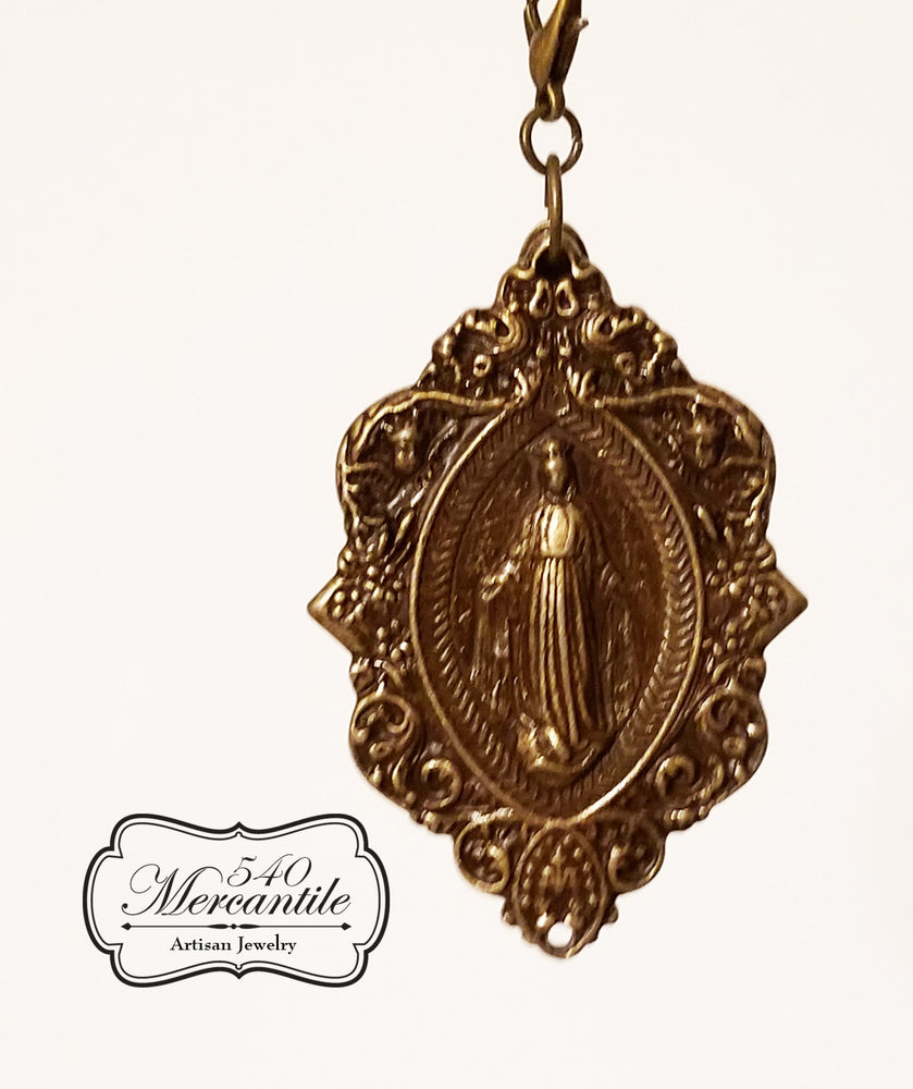 Rosary Metal in Bronze Charm
