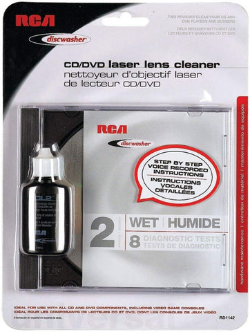 Dishwasher CD/DVD Laser lens cleaner (Limpiador de lectores láser para CD/DVD) - RCA