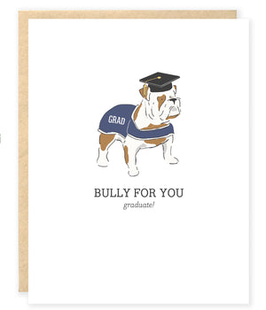 english bulldog graduation congraulations card