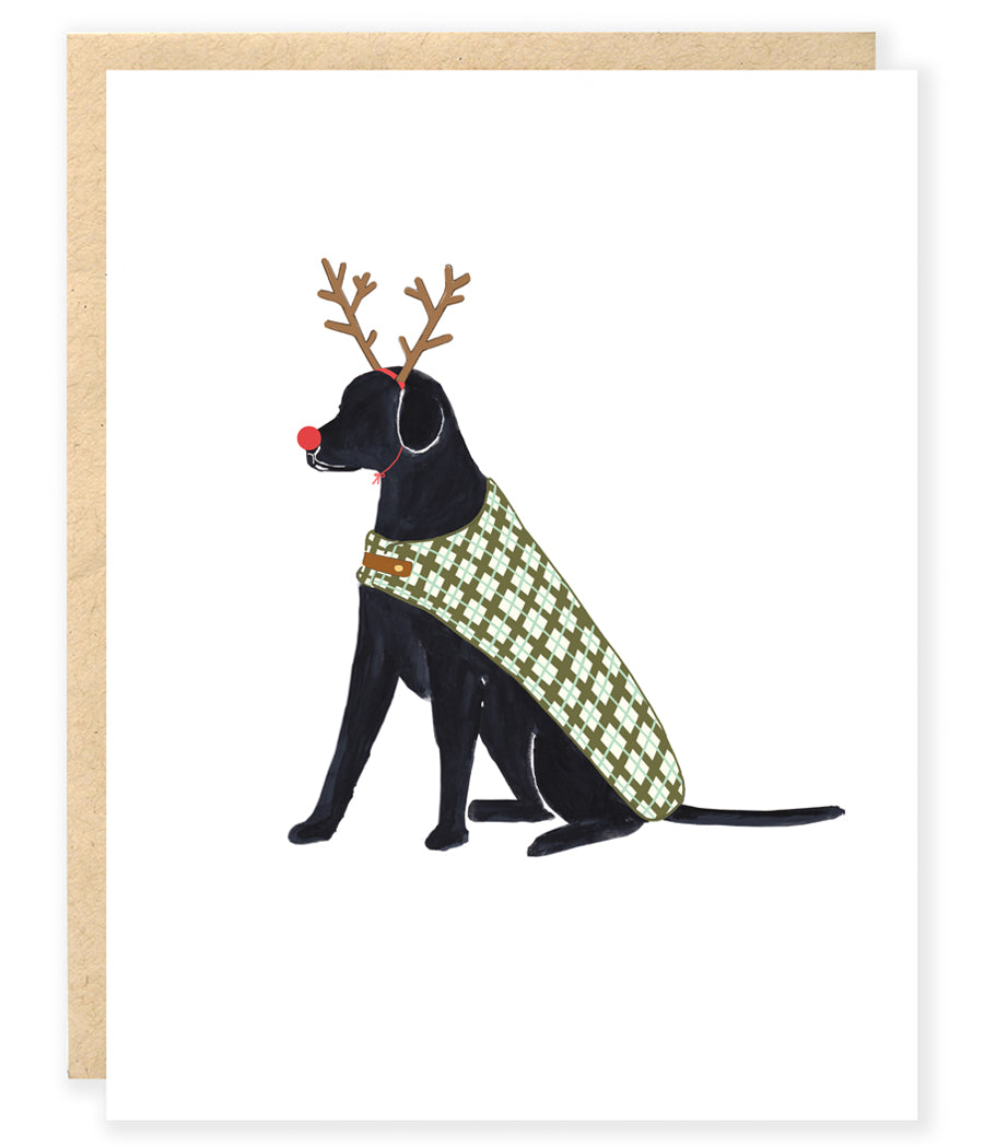 Dog Kraft Holiday Christmas Greeting Cards - 10 Pack - Black Lab ...
