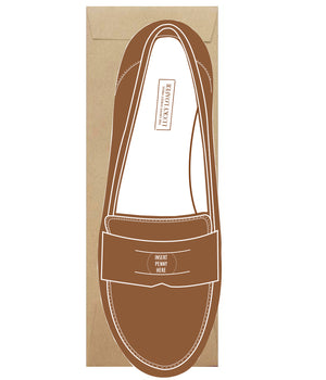 vintage preppy penny loafer greeting card die cut sebago weejuns