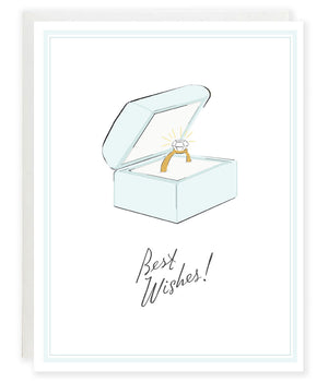 Best wishes engagement diamond ring congratulations greeting card
