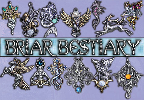 Briar Bestiary Medieval Pendants and Brooches at Enchanted Jewelry & Gifts