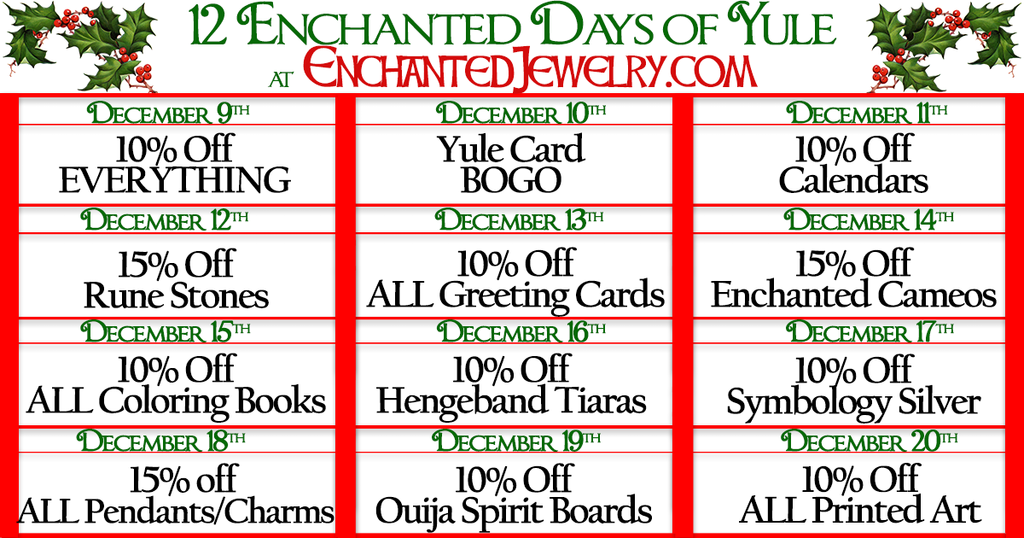 12 Days of Enchanted Yule Sale - One Sale A Day!