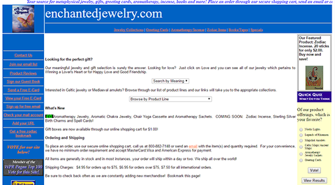Enchanted Jewelry in the Days of Dial-Up