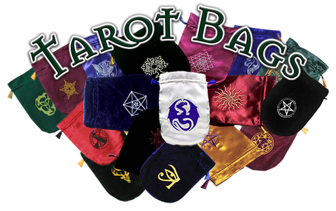Satin & Velvet Tarot Card Bags at Enchanted Jewelry & Gifts