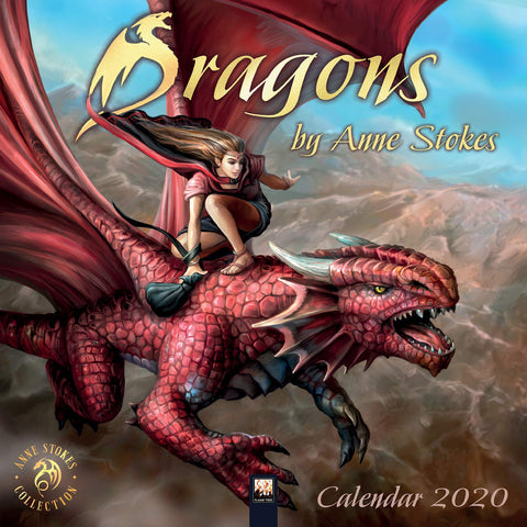 ASCAL20D-Anne Stokes 2020 Dragon Calendar (Calendars) at Enchanted Jewelry & Gifts
