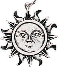(Product Code: ESPA3) The Sun Pendant for Health, Wealth, & Happiness, EarthSea Charms - EnchantedJewelry