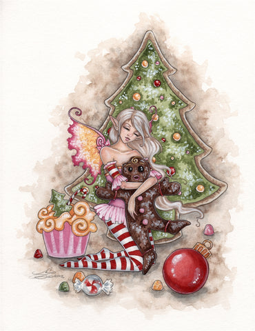 rABC01-Twas the Night Before Christmas Card (Cards - Amy Brown Yule) at Enchanted Jewelry & Gifts