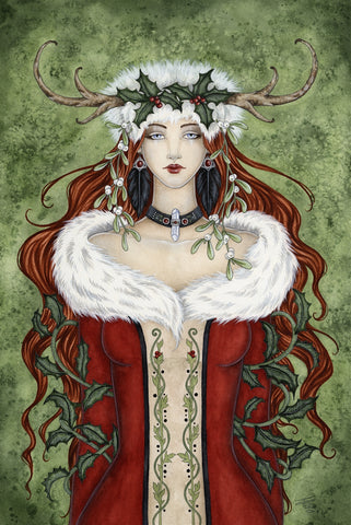rABC03-Winter Solstice Yule Card (Cards - Amy Brown Yule) at Enchanted Jewelry & Gifts