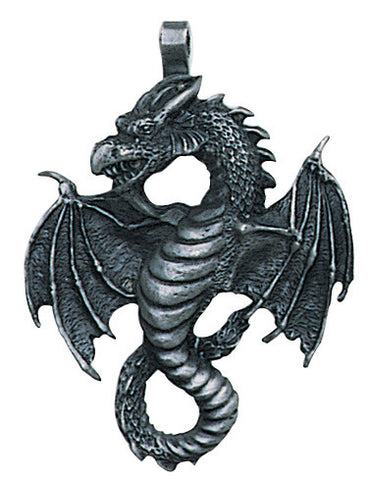 (Product Code: AMP269) Air Dragon Pendant for Mental & Communication Skills, Ancient Celtic Symbol Magic - EnchantedJewelry