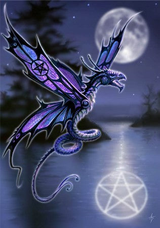 (Product Code: rAN01) Dragonfly Card, Anne Stokes Dragons Cards - EnchantedJewelry