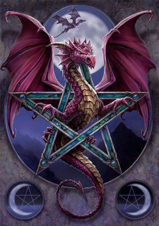 (Product Code: rAN07) Lunar Magic Card, Anne Stokes Dragons Cards - EnchantedJewelry