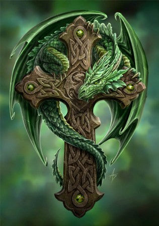 rAN08-Woodland Guardian Card-Anne Stokes Dragons Cards-Enchanted Jewelry & Gifts