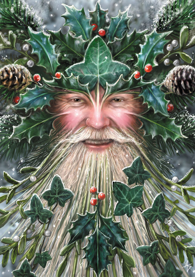 rAN09-Spirit of Yule Card-Anne Stokes Yuletide Magic Cards-Enchanted Jewelry & Gifts