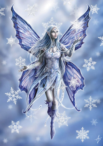 (Product Code: rAN10) Snowflake Fairy Card, Anne Stokes Yuletide Magic Cards - EnchantedJewelry