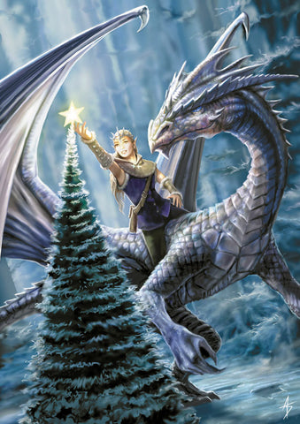 (Product Code: rAN13) Winter Fantasy Card, Anne Stokes Yuletide Magic Cards - EnchantedJewelry