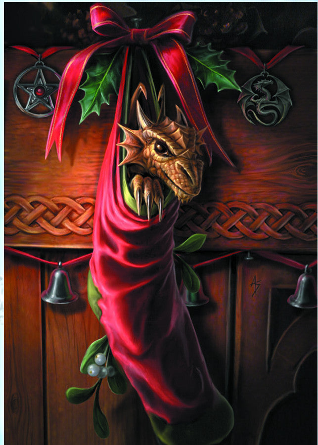 rAN14-Magical Arrival Card (Anne Stokes Yuletide Magic Cards) at Enchanted Jewelry & Gifts