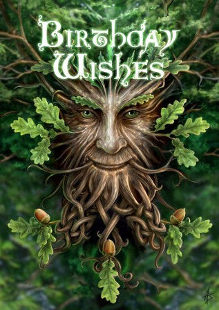 (Product Code: rAN18) Oak King Card, Anne Stokes Birthday Cards - EnchantedJewelry
