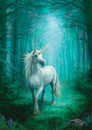 rAN34 - Forest Unicorn Card by Anne Stokes (Unicorns Cards) at Enchanted Jewelry & Gifts