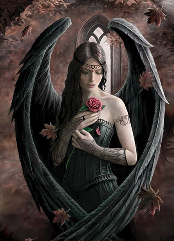 (Product Code: rAN36) Angel Rose Card, Anne Stokes Angels Cards - EnchantedJewelry