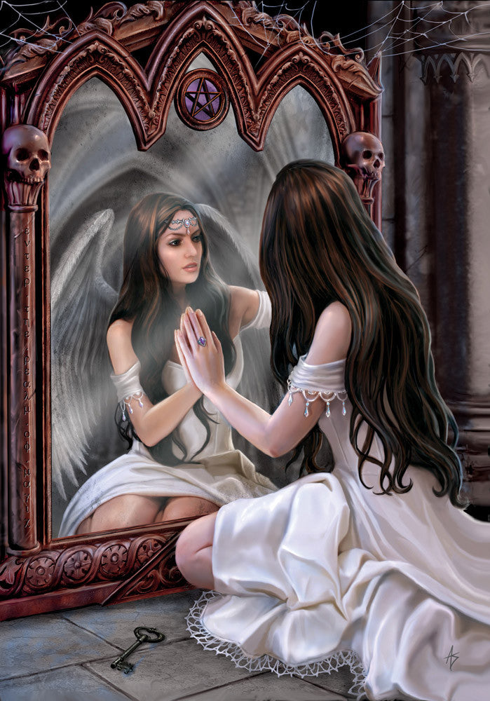 rAN37 - Magical Mirror Card by Anne Stokes (Angels Cards) at Enchanted Jewelry & Gifts