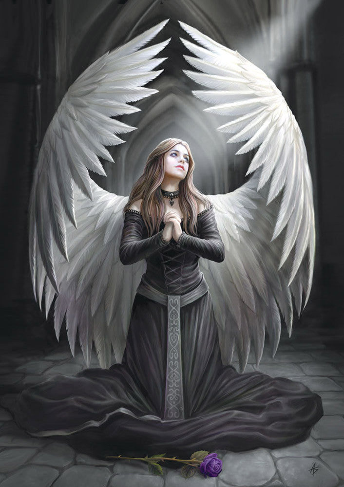 rAN38 - Prayer for the Fallen Card by Anne Stokes (Angels Cards) at Enchanted Jewelry & Gifts