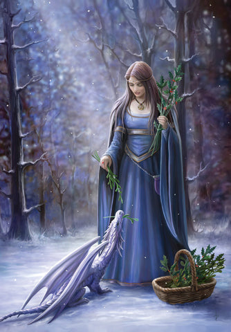 rAN41 - Solstice Gathering Card by Anne Stokes (Yuletide Magic Yule Cards) at Enchanted Jewelry & Gifts