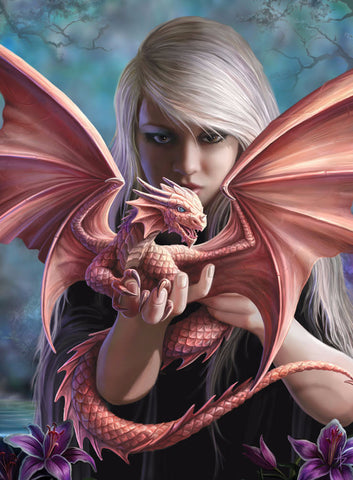 rAN47 - Dragonkin Card by Anne Stokes (Dragons Cards) at Enchanted Jewelry & Gifts