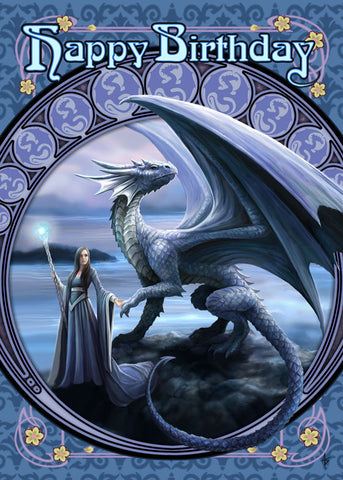 (Product Code: rAN51) New Horizons Birthday Card, Anne Stokes Birthday Cards - EnchantedJewelry - 1