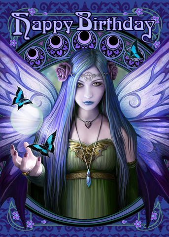 (Product Code: rAN52) Mystic Aura Birthday Card, Anne Stokes Birthday Cards - EnchantedJewelry - 1