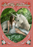 (Product Code: rAN57) Pure Heart Valentine Card by Anne Stokes, Anne Stokes Valentine Cards - EnchantedJewelry - 1