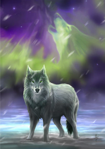 rAN59-Aura Wolf Card by Anne Stokes (Anne Stokes Eastern Promise Cards) at Enchanted Jewelry & Gifts