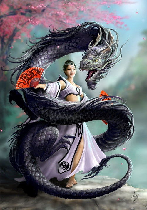 rAN63-Dragon Dancer Card by Anne Stokes (Anne Stokes Eastern Promise Cards) at Enchanted Jewelry & Gifts