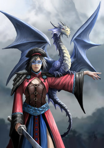 rAN64-Look to the East Card by Anne Stokes (Anne Stokes Eastern Promise Cards) at Enchanted Jewelry & Gifts
