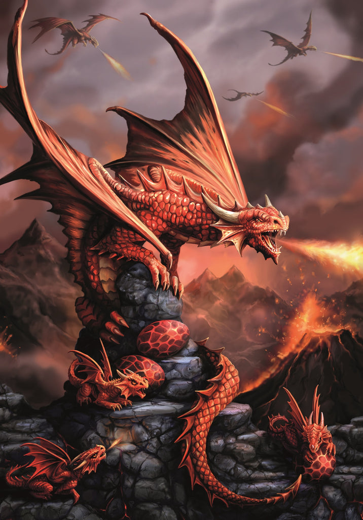 rAN73-Fire Dragon Card (Anne Stokes Age of Dragons Cards) at Enchanted Jewelry & Gifts