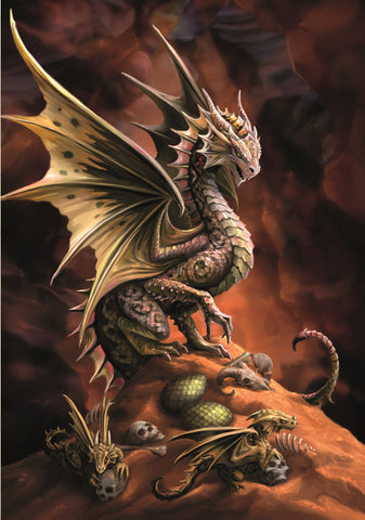 rAN74-Desert Dragon Card (Anne Stokes Age of Dragons Cards) at Enchanted Jewelry & Gifts