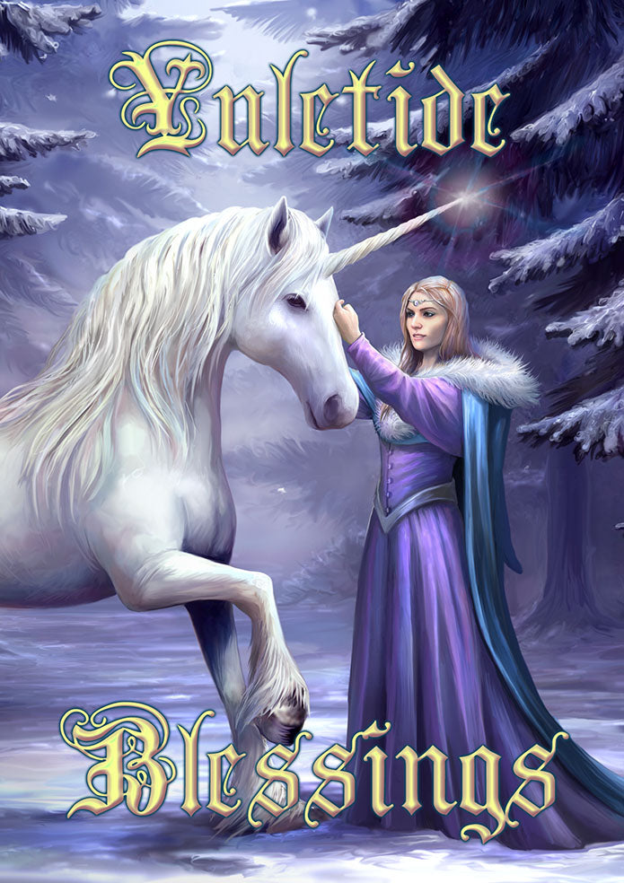 rAN87-Pure Magic Yule Card-Anne Stokes Yuletide Magic Cards-Enchanted Jewelry & Gifts