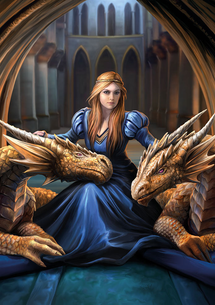 rAN90-Fierce Loyalty Card (Anne Stokes Dragons Cards) at Enchanted Jewelry & Gifts
