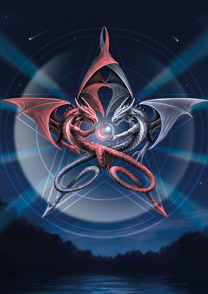 rAN97-Pentagram Dragons Card (Anne Stokes Dragons Cards) at Enchanted Jewelry & Gifts