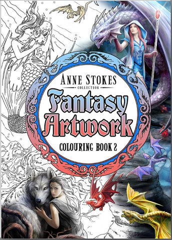 ASCB2 - Anne Stokes Fantasy Art Coloring Book 2 (Books) at Enchanted Jewelry & Gifts