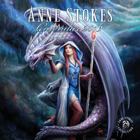 ASCAL019 - Anne Stokes 2019 Art Calendar (Anne Stokes Calendar) at Enchanted Jewelry & Gifts