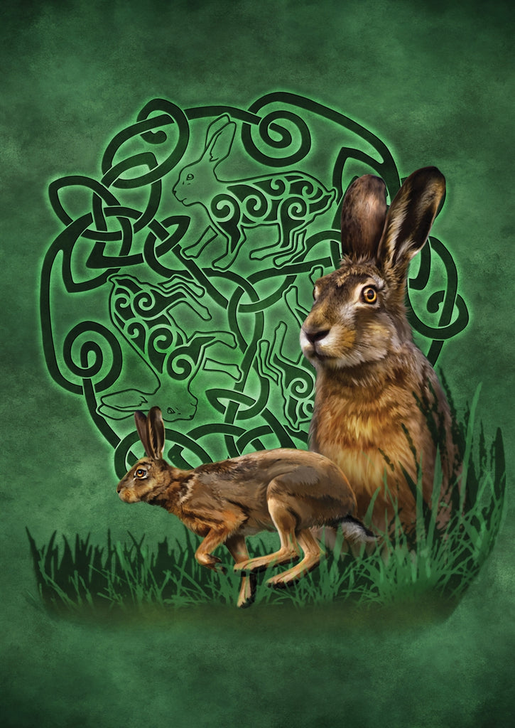 rBA01-Celtic Hare Card (Cards - Brigid Ashwood) at Enchanted Jewelry & Gifts