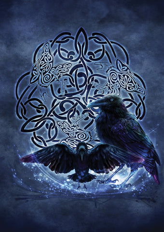 rBA02-Celtic Raven Card (Cards - Brigid Ashwood) at Enchanted Jewelry & Gifts