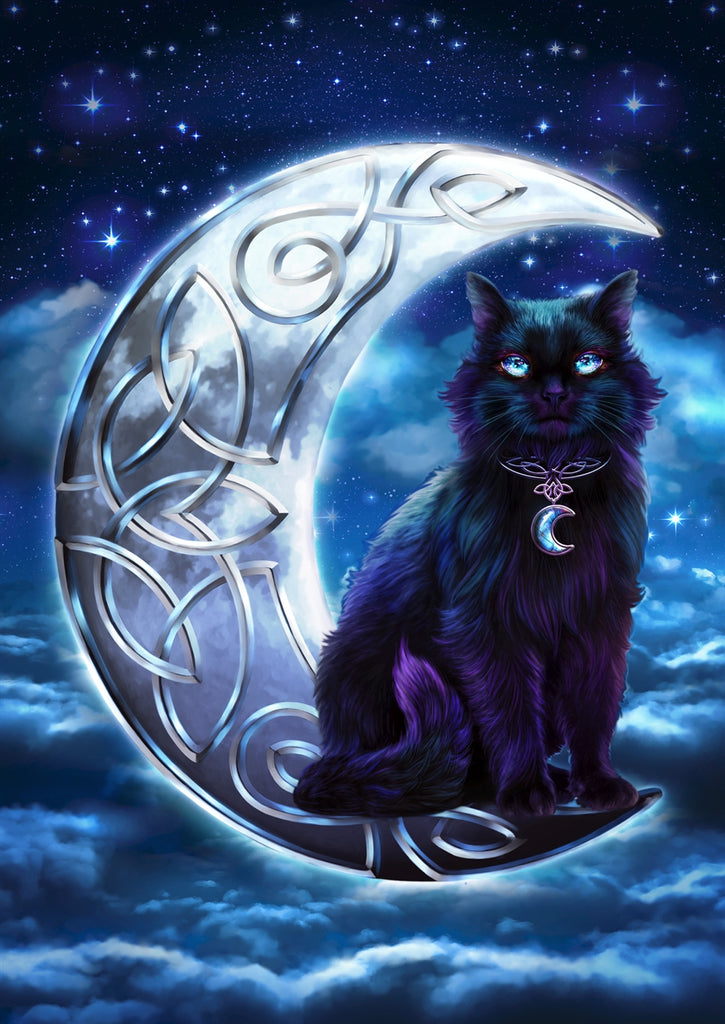 rBA03-Celtic Black Cat Card (Cards - Brigid Ashwood) at Enchanted Jewelry & Gifts