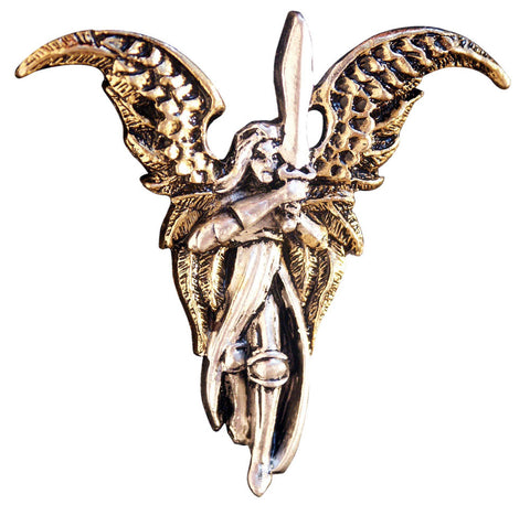(Product Code: BAF16) Archangel Michael Pendant for Freedom from the Past, Briar Angels and Faeries - EnchantedJewelry