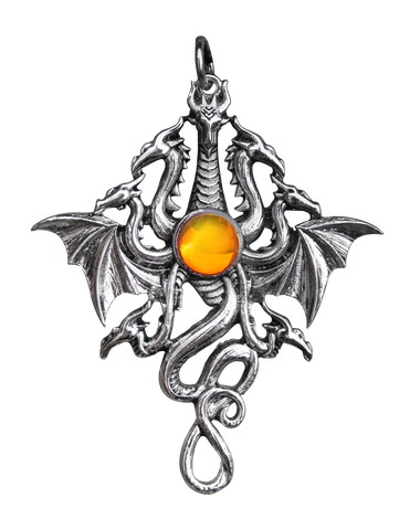 BB01 - Lernaen Hydra Pendant for Fluidity & Power (Briar Bestiary) at Enchanted Jewelry & Gifts