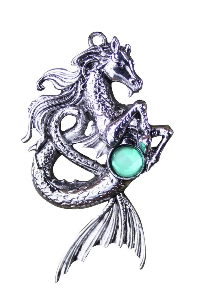 BB02-Kelpie for Mysterious Spirit Pendant by Briar (Briar Bestiary) at Enchanted Jewelry & Gifts
