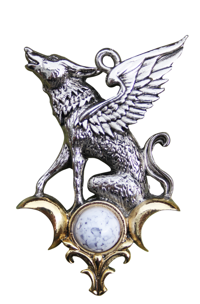 BB03-The Barghest for Otherworldly Knowledge Pendant by Briar (Briar Bestiary) at Enchanted Jewelry & Gifts