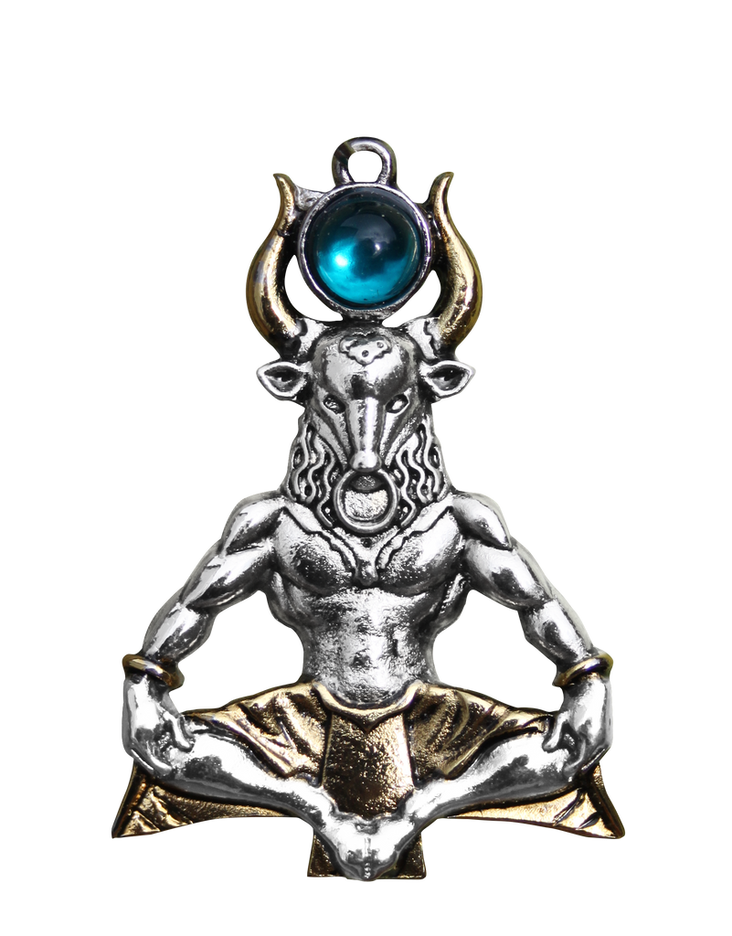 BB04-Minotaur for Serenity Through Challenge Pendant by Briar (Briar Bestiary) at Enchanted Jewelry & Gifts